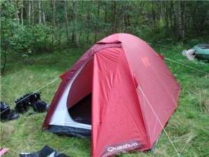 ров вокруг палатки