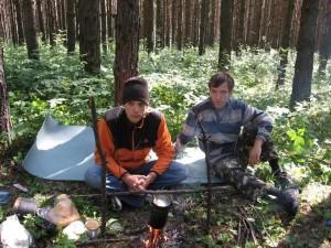 ночуем в лесу
