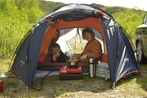 Внутри палатки