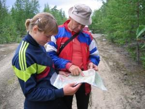 Ориентирование по топографическим картам