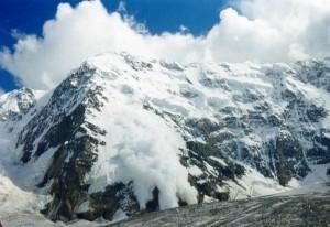 Лавины в горах