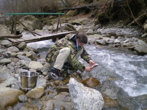 Чистка пойманной рыбы