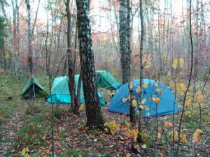 Палатка и спальник для комфортного сна