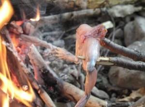 Как приготовить лягушку на костре