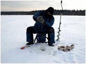 В трескучий мороз на рыбалку