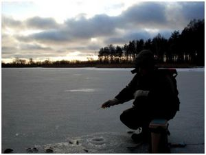 На озеро с мормышкой