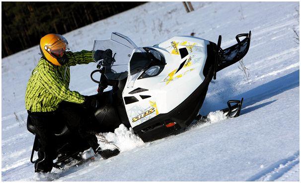 Новый русский снегоход