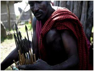 С луком истрелами вАфрику