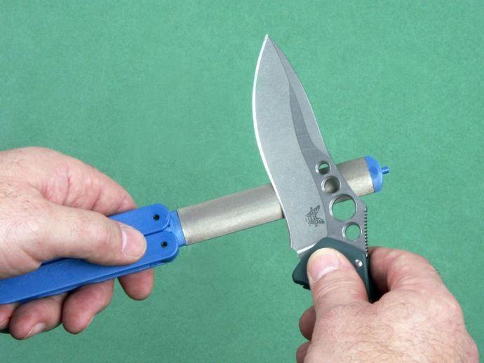 Складные алмазные мусаты Eze-Lap, Edge Crafter, DMT для правки и заточки ножей, топоров, лопат и пил в полевых условиях.