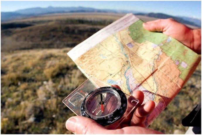 Как отрегулировать склонение компаса: идти в правильном направлении