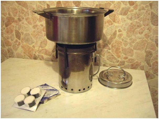 Как сделать горелку для сухого горючего