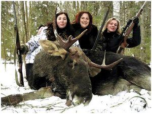 О дамской охоте и охотницах