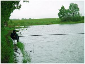 Рыбалка  после сильных дождей
