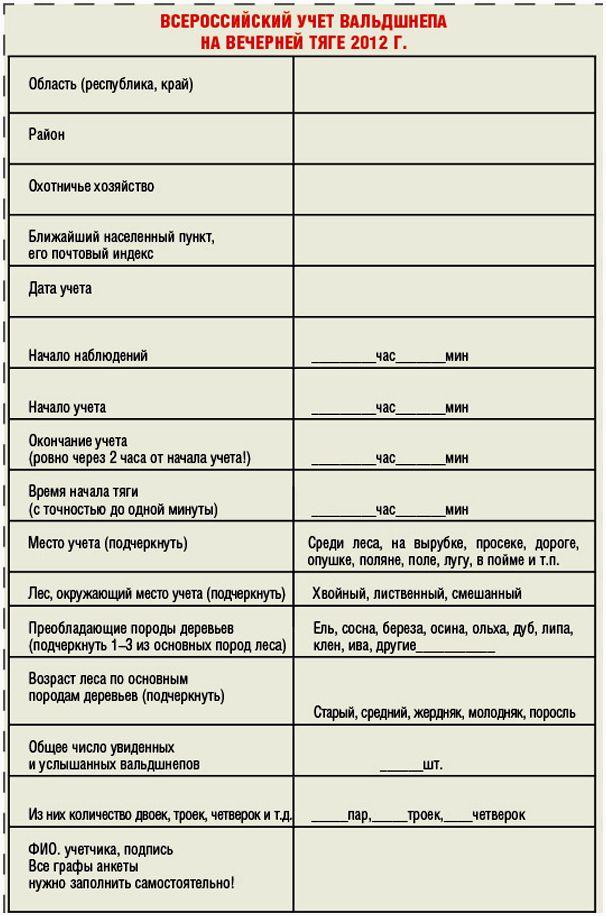 26 мая – всероссийский учет вальдшнепов на тяге