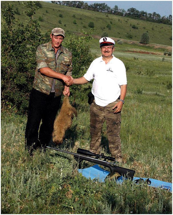 Большая охота  в ростовских степях