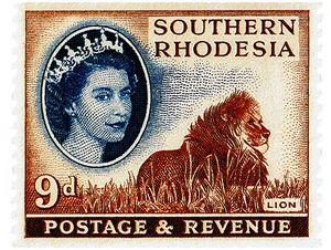 Африканская пятерка на почтовых марках