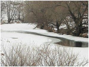 Пескарь зимой