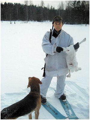 Зимняя охота под Устюжной