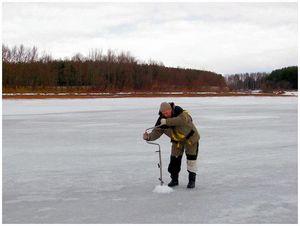 Подледная рыбалка на мелководьях