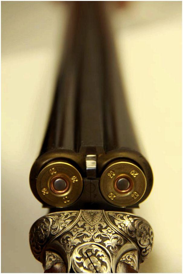 каталоге фото ружья двустволки вид стволов спереди дула назовем