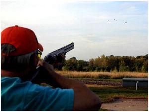 Тренажер для занятий с ружьем
