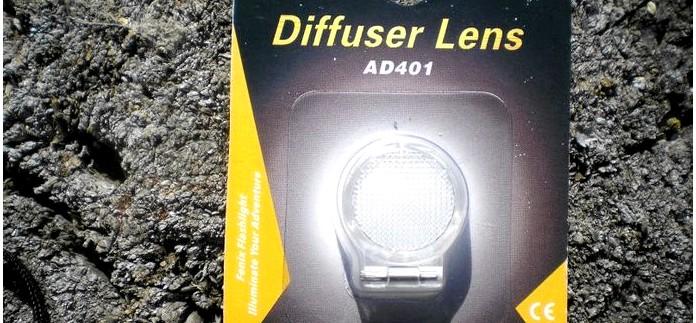 Диффузор Fenix Diffuser Lens AD401 для фонарей Fenix, обзор, впечатления, применение в полевых условиях.