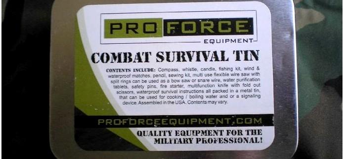 Набор выживания Proforce COMBAT SURVIVAL TIN для английской SAS, Special Air Service, обзор.