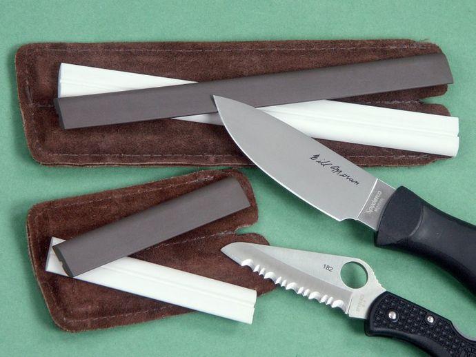 Портативные карманные точилки от фирм Spyderco и Lansky для заточки ножей в городских и полевых условиях.
