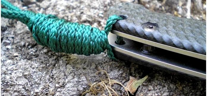 Темляк для ножа, практическое применение темляка на ноже в условиях выживания.