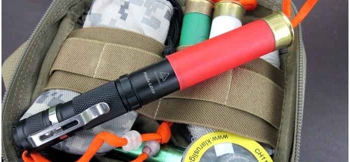 Диффузор, рассеиватель света, для фонаря Fenix LD09 из пластиковой охотничьей гильзы 12 калибра, самодельный светорассеиватель для фонаря.