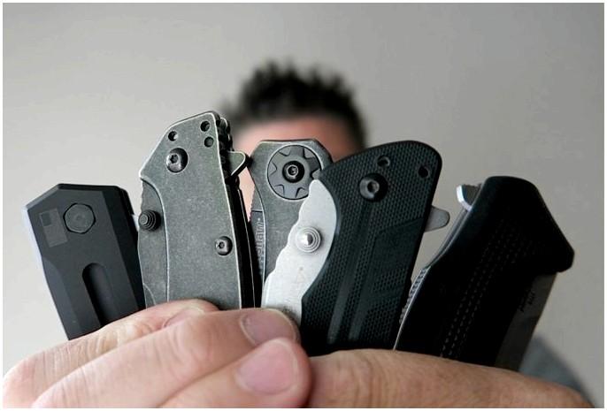 Керхоу карманный нож: разрез над остальными