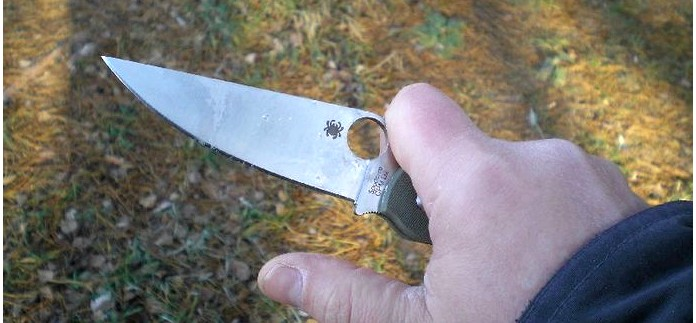 Складной нож Spyderco Military D2, обзор, отзыв, тест и впечатления.