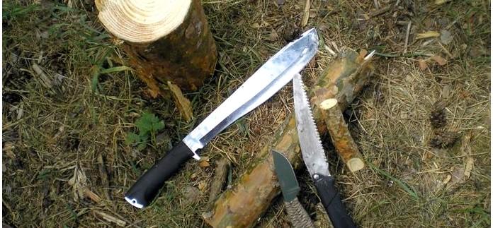 Мачете Кайман от ООО Кизляр, характеристики, обзор, тест, рабочие качества мачете Кайман при рубке и заготовке дров.