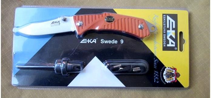Складной нож EKA Swede 9, общие впечатления и обзор, рабочие качества складного ножа EKA Swede 9.