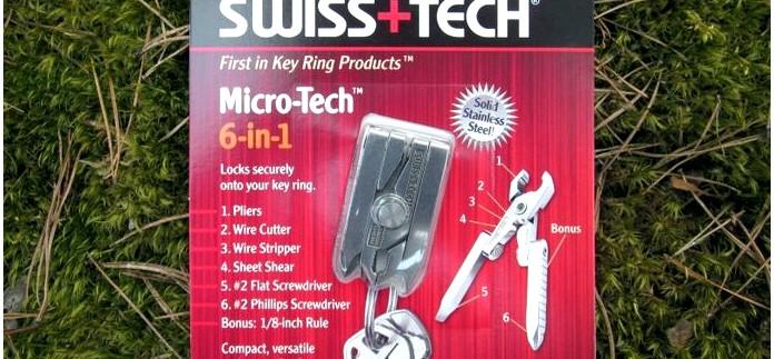 Многофункциональный инструмент-брелок Swiss+Tech Micro-Tech 6-in-1, устройство, конструкция и инструменты, обзор и тест.