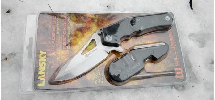 Складной нож Lansky Responder Quick Action Knife EDC, устройство, обзор, тест и впечатления от ножа.
