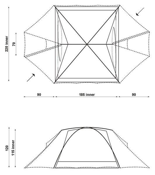 Туристическая трехместная палатка Hannah COVERT II, характеристики, устройство, обзор и установка палатки.