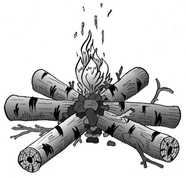 Костер для обогрева и ночевки, варианты костров для обогрева и ночевки, разведение и поддержание огня.