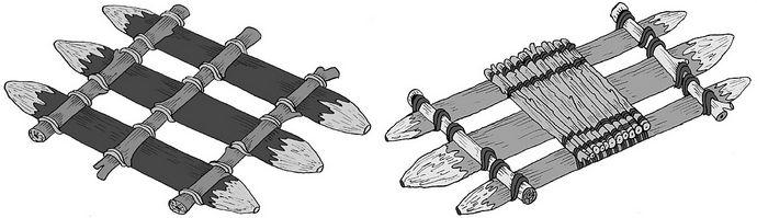 Варианты конструкции плотов для переправы через реки и другие водные преграды, определение грузоподъемности и особенности строительства плота из бревен.