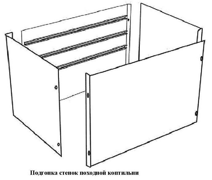 Конструкция и устройство переносной походной коптильни, порядок изготовления, подготовка к копчению и процесс копчения продуктов.