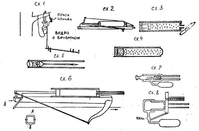 Варианты механических и огнестрельных огнеметов, огнестрельных самострелов стреляющих стрелками, пневматических самострелов, общий обзор.