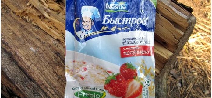 Каша овсяная быстрого приготовления Быстров Nestle и Каша доброго дня Амо, состав и вкусовые качества.