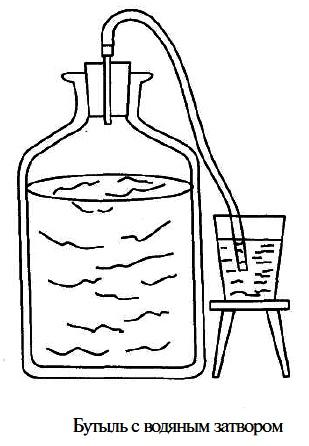 Брожение, закваска для брожения домашних вин, бродильный шпунт, проверка виноматериала на сладость.
