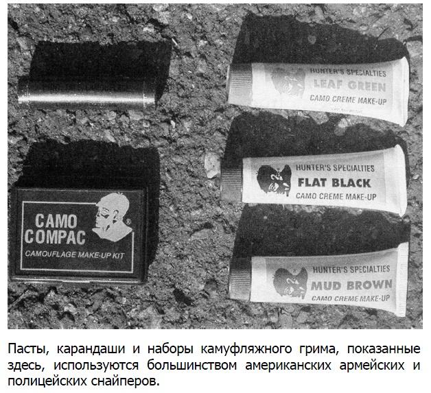 Головные уборы, камуфляжный грим для лица, вуали и маски для маскировки головы и лица.