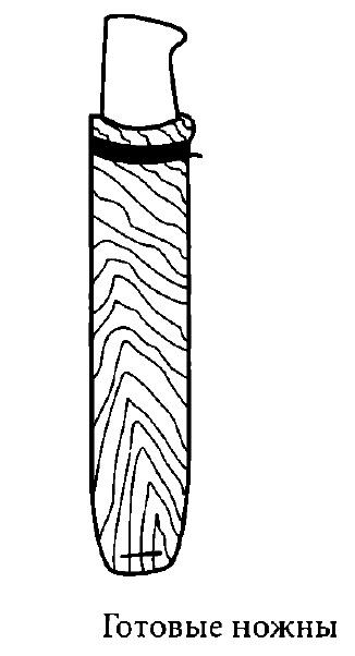 Изготовление деревянных и холщовых ножен для ножа, съемное крепления к деревянным ножнам, размещение ножен на брюках.