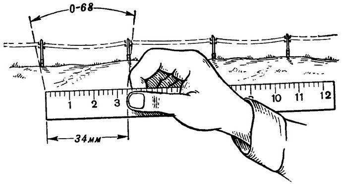 Измерение углов на местности с помощью компаса, по циферблату часов, биноклем со шкалой, с помощью линейки и глазомерное определение углов.