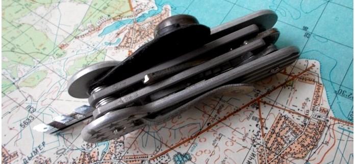 Мини инструмент Stowaway Tools от Klecker Knives, складной нож, держатель бит с открывалкой для бутылок, гаечный ключ и расческа, обзор.