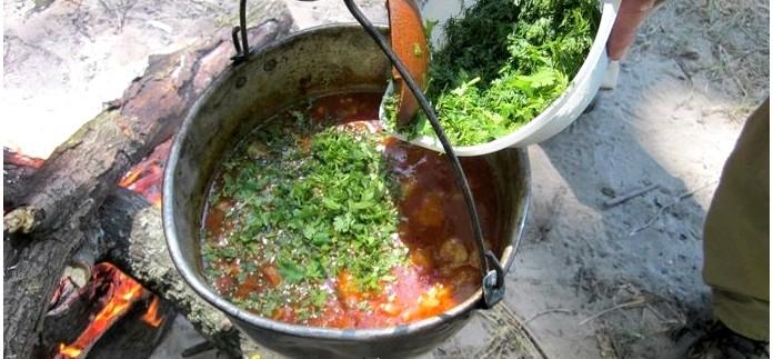 Рецепты приготовления первых блюд в казане, как готовить шурпу, супы, кулеш, гуляш, харчо, бограч в казане.