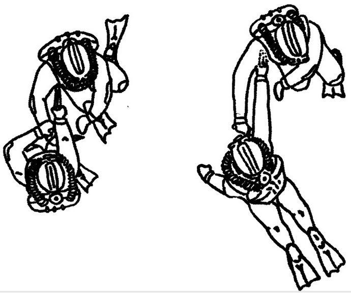 Ножевой бой под водой, особенности, дистанции, оптимальные траектории атаки и защиты ножом.
