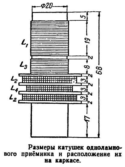Одноламповый и двухламповый радиоприемник, конструкция, детали, принципиальные и монтажные схемы, питание, цоколевка радиоламп.